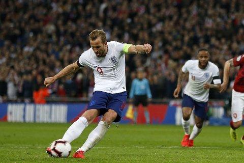 STRAFFETAGER: Harry Kane tar helt sikkert straffe dersom han er på banen for England i en eventuell straffekonk.