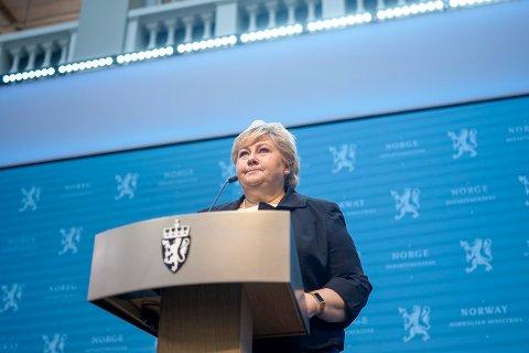 Statsminister Erna Solberg (H). Foto: Fredrik Hagen / NTB