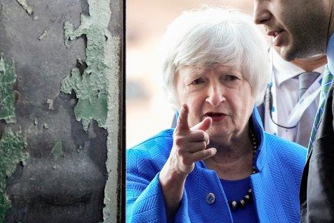 USAs finansminister Janet Yellen under G20-møtet i Venezia i Italia søndag. Foto: Luca Bruno / AP / NTB