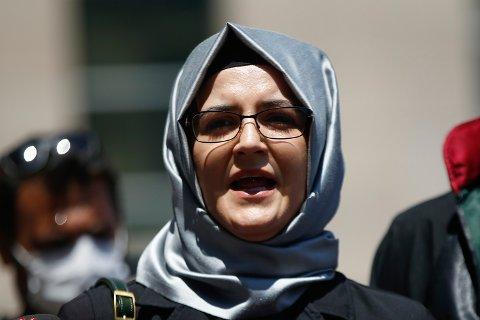 Spionprogrammet Pegasus fra israelske NSO Group er funnet på telefonen til Hatice Cengiz, forloveden til den saudiarabiske journalisten og regimekritikeren Jamal Khashoggi. Han ble drept av en saudiarabisk dødsskvadron i 2018. Foto: AP / NTB