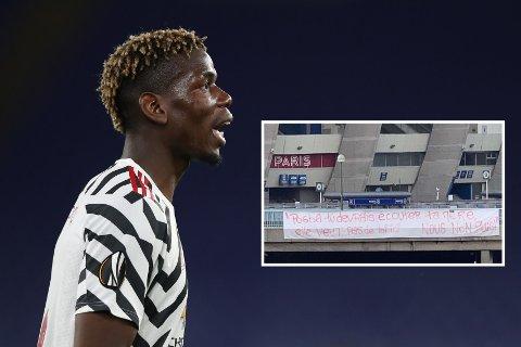 SINTE FANS: Deler av PSG-fansen ønsker ikke at PSG kjøper Paul Pogba, og har gitt klar beskjed.