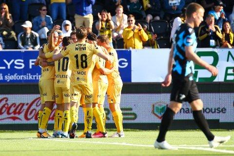 KAN JUBLE: Bodø/Glimt er videre til neste runde i Conference League-kvalifiseringen.