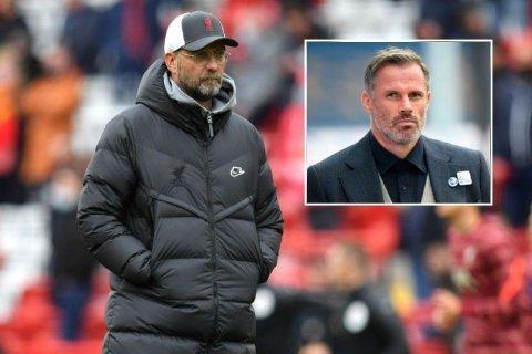 HÅPER PÅ FORSTERKNING: Jamie Carragher håper Jürgen Klopp får inn en ny forsterkning i løpet av sommerens overgangsvindu.