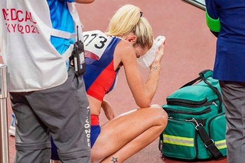 NY NEDTUR: Karoline Bjerkeli Grøvdal måtte bryte 10.00-meterne under OL.