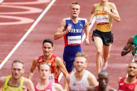 MISS: Filip Ingebrigtsen traff på ingen måte godt med opplegget før Tokyo-OL, der han forsvant ute av 1500-meterøvelsen tidlig.