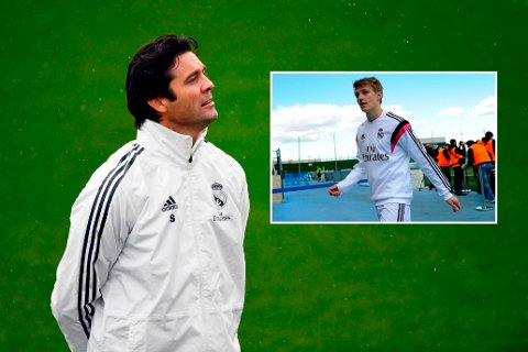 TRENER OG ELEV: Santiago Solari var trener i Real Madrid-systemet da Martin Ødegaard var i starten av sin proffkarriere.