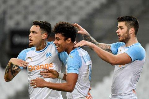 ETTERTRAKTEDE: Boubacar Kamara (midten) og Duje Caleta-Car (høyre) er to spillere fra den franske ligaen som er ønsket av klubber i Premier League.