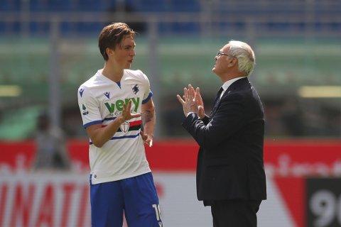 GA SEG: Trenerveteranen Claudio Ranieri ga seg som Sampdoria-trener i sommer. Det åpnet nye muligheter for Kristoffer Askildsen.