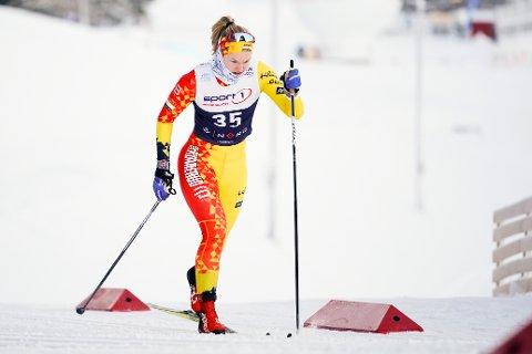 Julie Arnesen under sprintkvalifisering i NM langrenn i Granåsen sist vinter. Foto: Ole Martin Wold / NTB.