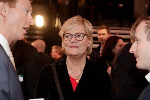 Tidligere SV-leder Kristin Halvorsen mener Senterpartiet må gå med på økning i drivstoffavgiften om regjeringssonderingene skal føre fram. Foto: Berit Roald / NTB