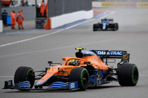 Lando Norris under kvalifiseringen til Russian Grand Prix