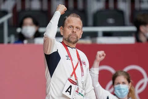 Thorir Hergeirsson under bronsefinalen i OL i Tokyo. Foto: Stian Lysberg Solum / NTB