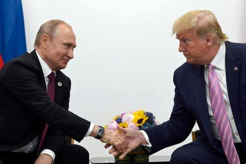 MØTE: Russlands president Vladimir Putin møtte USAs president Donald Trump i anledning et G-20-møte i Osaka i 2019.
