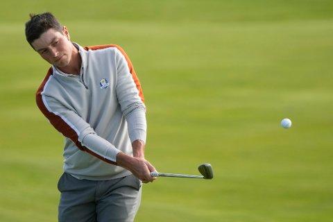 Viktor Hovland spiller i helgen PGA-turnering i Las Vegas. Foto: Charlie Neibergall / AP / NTB