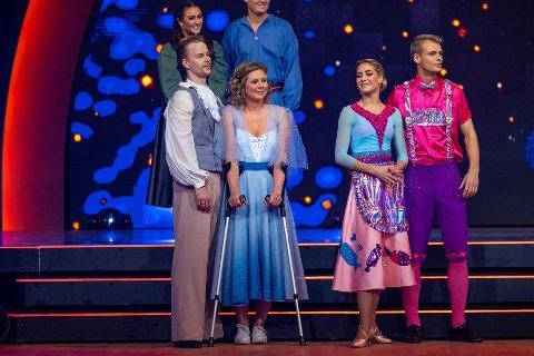 UTE AV «SKAL VI DANSE»: Maren Lundby og dansepartneren Philip Raabe er ute av «Skal vi danse» etter at Lundby trakk seg fra konkurransen lørdag kveld.