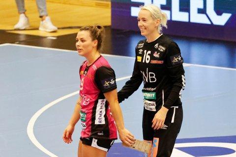 Nora Mørk og Katrine Lunde kunne juble for seier mot Kastamonu lørdag. Foto: Tor Erik Schrøder / NTB