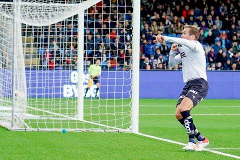 ORDNET SEIER: Vikings Kristoffer Løkberg scoret 1-0-målet mot Strømsgodset på Marienlyst stadion.