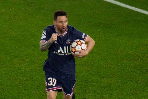 SCORET TO: Lionel Messi sørget for tre viktige poeng for PSG i Champions League.