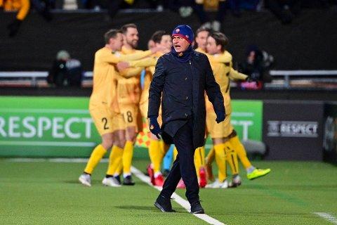 TUNG KVELD: José Mourinho og hans Roma fikk det tøft på Aspmyra torsdag kveld.