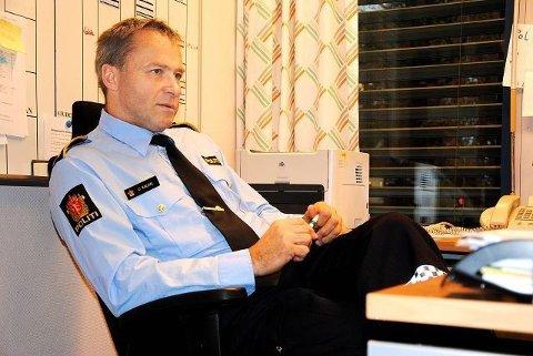 Etter en rolig periode i vårt område, ble trenden brutt av tre innbrudd og innbruddsforsøk torsdag ettermiddag. Her politioverbetjent på Majorstua politistasjon, Dagfinn Kaldal.