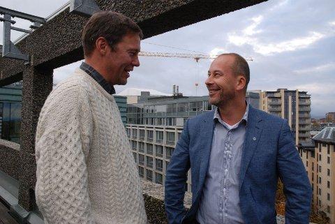 JOBBER: Rune Kvarme og Baard Fiksdal i NHO Service vet det fins arbeid til dem som har litt bagasje.