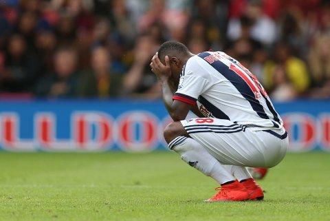MISFORNØYD: Saido Berahino er ikke særlig fornøyd med hvordan West Bromwich har behandlet ham.