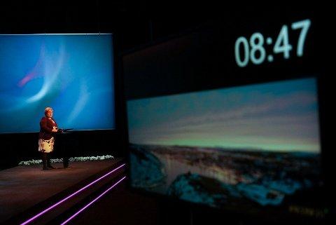 GASS EN DEL AV LØSNINGEN: Kull er «klimaverstingen», og norsk gass er en del av løsningen i Europa fram mot 2030, mener statsminister Erna Solberg, her på Statoils høstkonferanse 23. november.