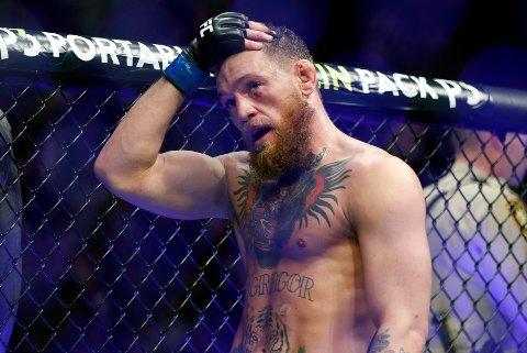 Conor McGregor tapte for Dustin Poirier natt til søndag norsk tid. Foto: John Locher, File / AP / NTB