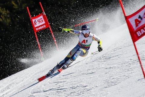 Alexander Steen Olsen avanserte 23.-plasseringer i europacupfinalen i storslalåm. Foto: Gabriele Facciotti / AP / NTB