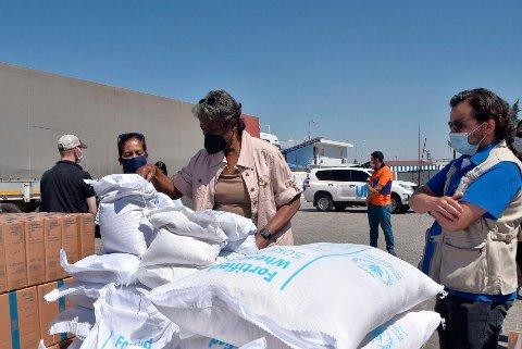3,4 millioner mennesker nordvest i Syria sto i fare for å miste livsviktig nødhjelp dersom ikke FNs sikkerhetsråd hadde kommet fram til enighet om å holde Bab al-Hawa-grenseovergangen fra Tyrkia åpen. Foto: AP / NTB