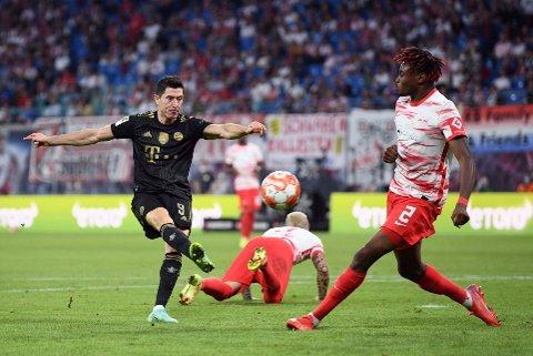 Målmaskinen Lewandowski: Bayern Münchens Robert Lewandowski i kampen mot Red Bull Leipzig lørdag 11. september.