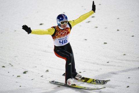 BEST ETTER OL: Severin Freund vant det første verdenscuphoppet etter OL.