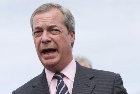 NYTT SYSTEM: Avgått leder for UKIP, Nigel Farage, mener valgsystemet i Storbritannia må endres.