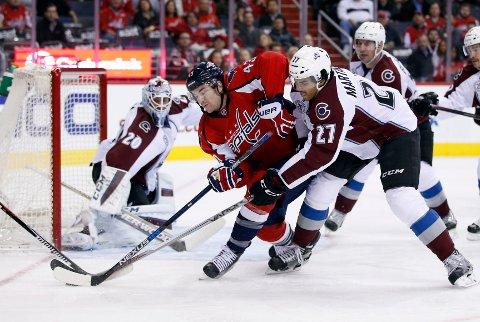 MÅL: Andreas Martinsen åpnet målkontoen i NHL.