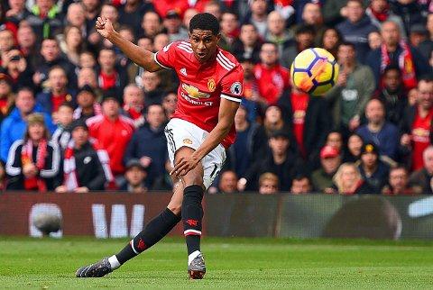 DAGENS MANN: Med to scoringer mot Liverpool ble Manchester Uniteds Marcus Rashford den store forskjellen i det 200.møtet mellom erkerivalene.