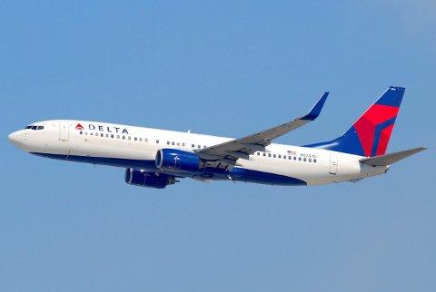 NYE PROBLEMER FOR BOEING: Sprekkene er funnet på det som kalles «pickle fork», som er strukturen som blant annet styrker vingenes feste til flykroppen. Her er et bilde av et Boeing 737-800-fly fra Delta Airlines. Bildet er ment som en illustrasjon.
