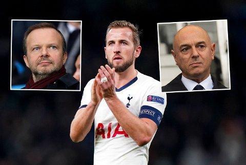 FORHANDLINGER I SOMMER? Ed Woodward og Manchester United skal være interessert i Harry Kane, men det spørs om Tottenhams styreformann Daniel Levy vil selge.