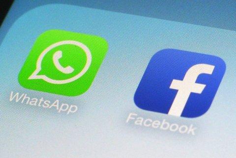Brukere hadde store problemer med å komme inn på Facebook og WhatsApp mandag kveld. Foto: Patrick Sison / AP / NTB