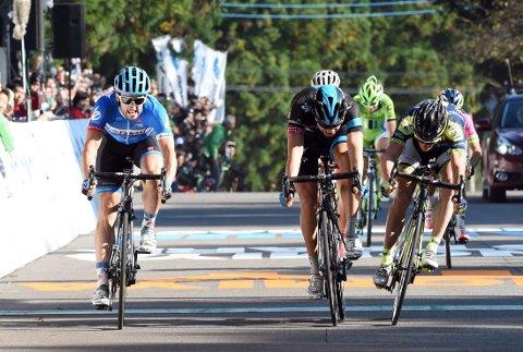 ANDREPLASS: Det ble andreplass for Edvald Boasson Hagen i Japan.