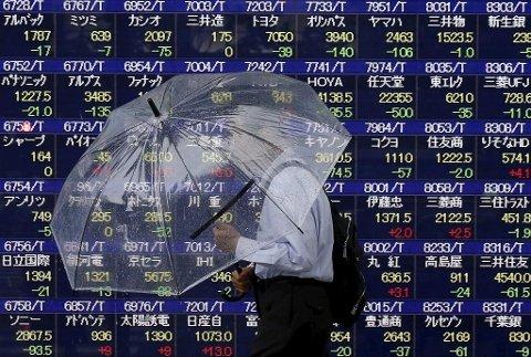 Blodrødt på Asias viktigste børser fredag 09.02.18.