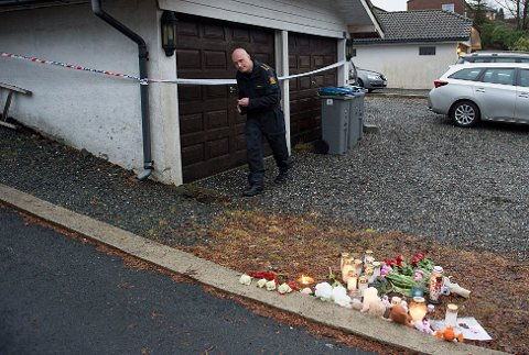 VENTER KRIPOS: Krimtekniker Terje Erichsen gjorde seg mandag klar til å ta i mot Kripos i boligen som brant i Ytrebygda på lørdag, der en jente på 9 år omkom og tre andre er alvorlig skadet.