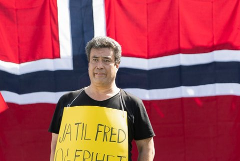 Dan Eivind Lid deltok på Sians krenkefest foran Stortinget i august i fjor. Kun noen få uker senere ble han drept under det påtalemyndigheten mener var et narkotikaran. Foto: Geir Olsen / NTB