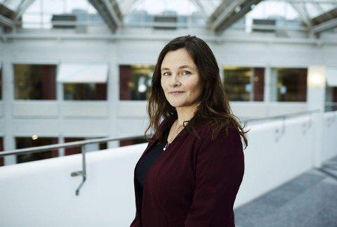 TJENER BRA: Fungerende toppsjef Klara Lise Aasen i Bank Norwegian legger frem gode tall, men misligholdet utgjør over 10 milliarder kroner.