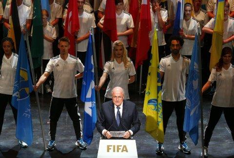 ÅPNET FIFA-KONGRESSEN: Sepp Blatter snakket om arrestasjonene under sin tale.