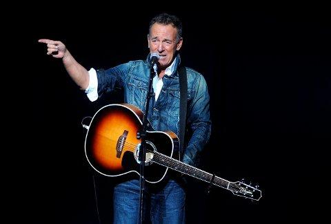Bruce Springsteen i kjente omgivelser på scenen i Madison Square Garden i New York. Foto: Brad Barket/Invision / AP / NTB