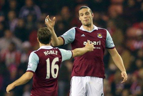 I FORM: Andy Carroll er en viktig mann for West Ham om dagen.