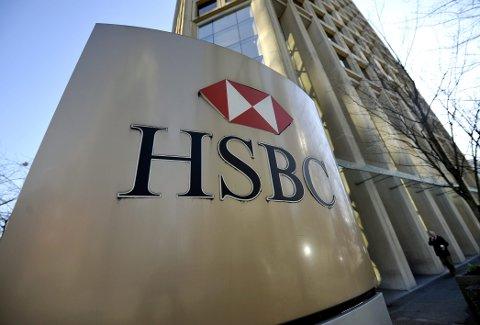 Britiskbaserte HSBC (The Hongkong and Shanghai Banking Corporation) varsler kutt av 10.000 stillinger. Foto: Lehtikuva / Timo Jaakonaho / NTB scanpix
