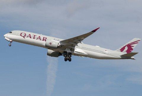 NØDLANDE: Det var et fly fra Qatar Airways fra Doha til Oslo som måtte nødlande i natt. Illustrasjonsfoto.
