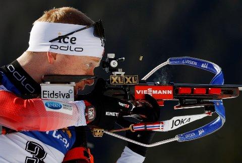NY MEDALJE: Johannes Thingnes bø tok sølv på jaktstarten i VM.