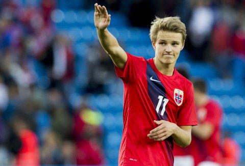 FÅR SKRYT: Martin Ødegaard imponerte svenskene.